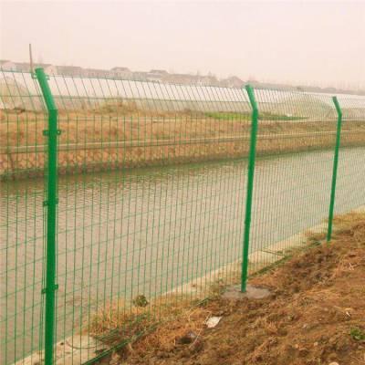 铁丝网护栏 草绿色铁丝网护栏网片 广西围栏网安装效果图