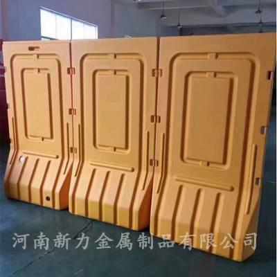 全新料1.9米注水施工围挡 防撞护栏 交通设施塑料水马隔离墩 河南新力