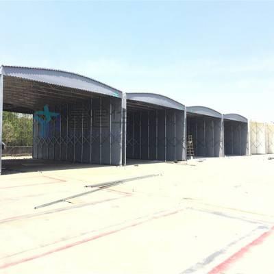 杭州临安厂家定制户外大型固定雨棚物流园卸货篷厂房仓库伸缩蓬 布 质量有保证