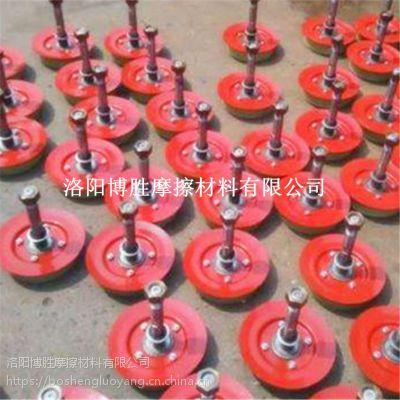 洛阳厂家直销矿井猴车单托轮|双托轮轮衬|聚氨酯猴车配件产品