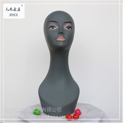 九鼎晟鑫 PVC模特头 女头模 假发 配饰 展示道具 精品头模 可定制 厂家直销