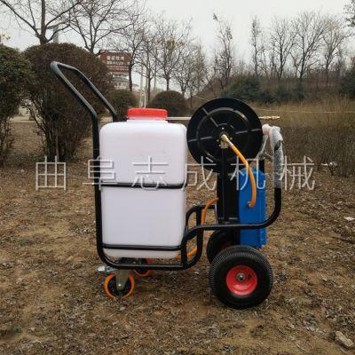 厂家促销 手推式四轮打药机 高压卷管式喷雾器 小型电动喷雾机
