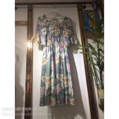 广州服装批发厂家拿货连衣裙雪纺女装便宜连衣裙韩版热销女装连衣裙大量供货