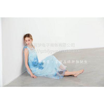 深圳翥牌真丝连衣裙品牌女装折扣批发原创设计师品牌