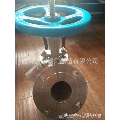 上海沪宣 不锈钢手动放料阀GH85 上展式放料阀