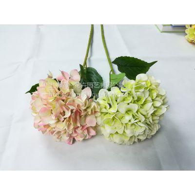 设计师的花仿真绣球花 单支绣球婚庆绣球 仿真花绢花拱门路引花家居装饰花