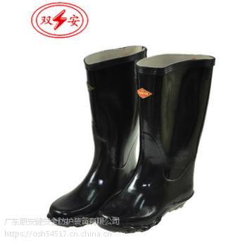 广州双安15KV绝缘雨靴矿用长筒雨鞋大量现货