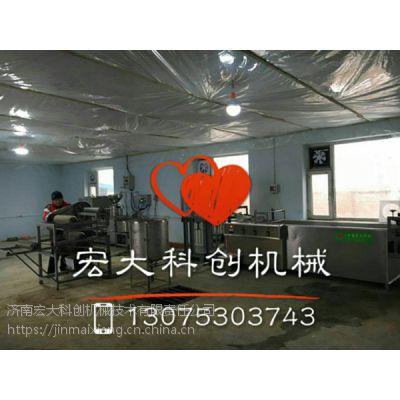 东北干豆腐机一人操作做超薄干豆腐的机器来厂试机,可观看整个干豆腐机操作流程