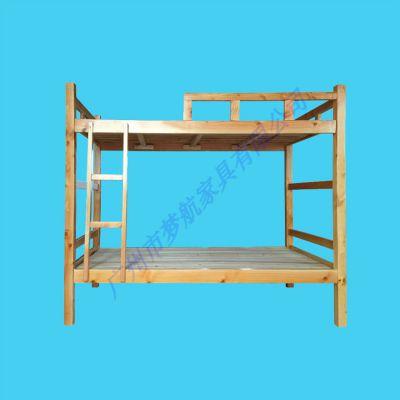 中式上下铺床松木双层床架子床成人学生宿舍上下床儿童床实木床高低床
