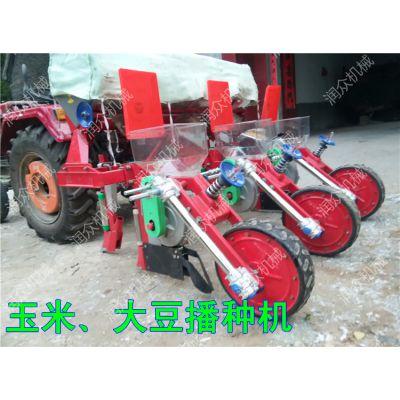 早玉米播种机 拖拉机带动大豆 玉米精播机价格 润众