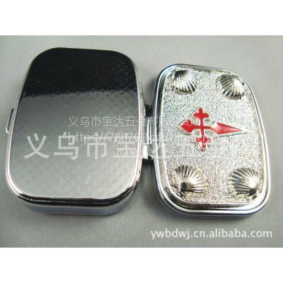 供应广告医用药丸盒 金属折叠药盒 定制口红盒子 金属铁盒 50 mm 60 mm 大药盒
