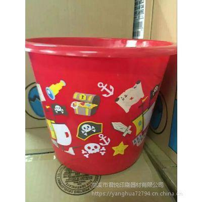 塑料桶热转印logo印刷 热转印膜定制 印刷机供应 pp花膜提供