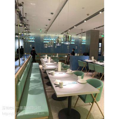 【服务冠军】餐饮家具厂商 深圳行一家具 5年不松动十年质保 桌椅订做