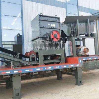 供应1414移动式石料破碎站 (铼申)鹅卵石破碎生产线产量高性能稳定