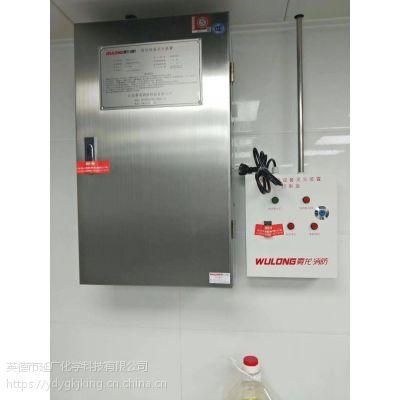 商业综合体必装双瓶组雾龙牌厨房灶台自动灭火系统