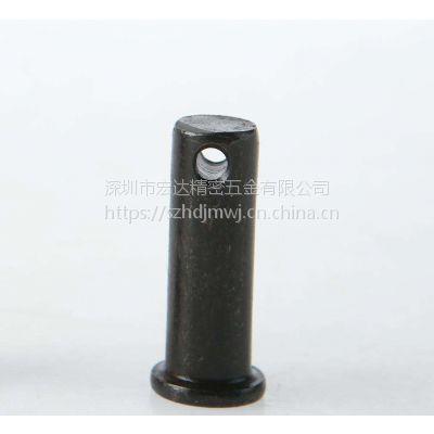 厂家非标定做带孔销轴_发黑开孔定位销_不锈钢平头带孔圆柱销钉