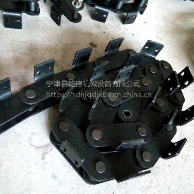 p100打包机弯板传送滚子链条 乾德生产厂家山东领先品质碳钢材质