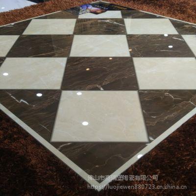 高端地板砖800*800拼花超晶石艾菲顿瓷砖适合过道大厅地砖室内铺贴