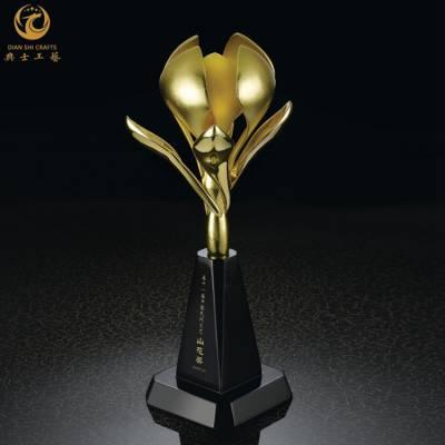金属丝带奖杯|企业年度之星奖杯|舞蹈比赛奖杯|金属奖杯加工厂家