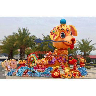 自贡灯会制作公司 花灯彩船 灯光节的制作展览 庙会展览