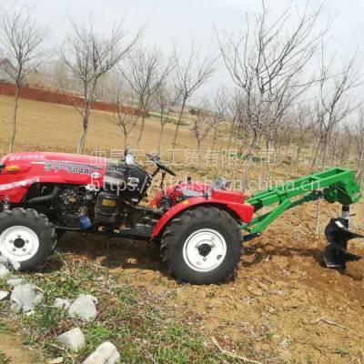 拖拉机车载式挖坑机 四轮80公分挖坑机