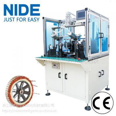 诺德电瓶车轮毂电机绕线机,双工位定子线圈绕制机器设备可定制