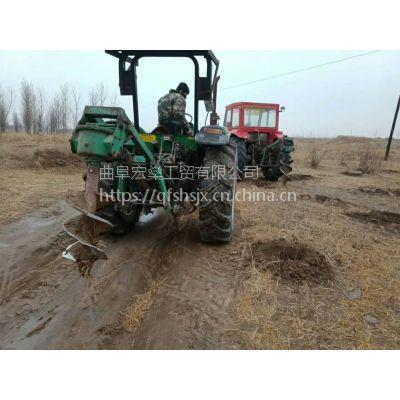 园林植树挖坑机 拖拉机地钻挖窝机