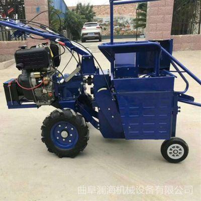 小型家用柴油单行山地割晒机 四轮拖拉机前置式玉米收获机