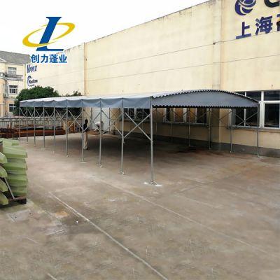 泗水县预定活动雨棚布电动推拉遮阳蓬伸缩式推拉雨篷厂家直销