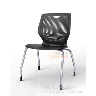 供应深圳众晟家具ZS-VR02塑料多功能阅览会议学生椅
