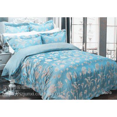 深圳市俊曦商贸代理批发品牌家纺5A珍珠丝床单四件套,承接OEM团购礼品订单