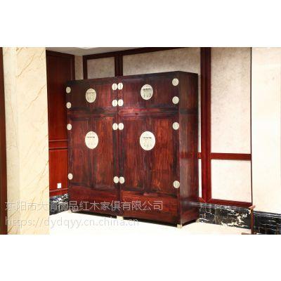 河南平顶山精品红木家具价格老挝大红酸枝交趾黄檀素面顶箱柜一对