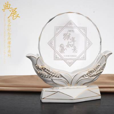 厦门党员纪念品定做 入党5周年水晶纪念牌 供应定做个性创意奖杯