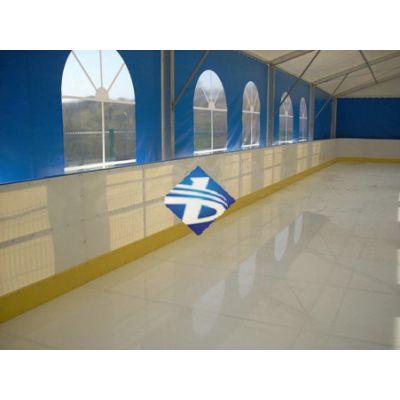 山东博驰厂家加工定制UPE仿真冰板耐磨自润滑旱冰场地面