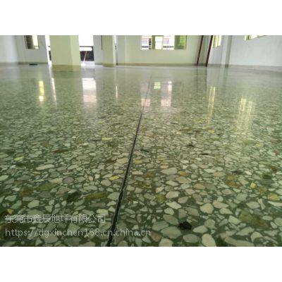 广州萝岗水磨石晶面处理-南沙旧地坪翻新-水磨石固化地坪施工