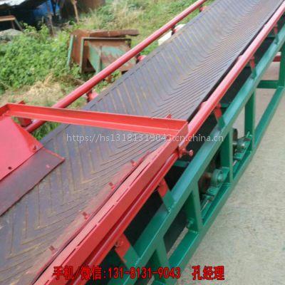 西安防滑爬坡皮带输送机 运行平稳草捆输送机