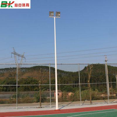 贵州8米球场灯柱批发/室外镀锌管球场灯杆规格尺寸