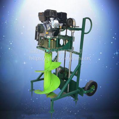 大马力栽树挖坑机厂家 便携式植树挖坑机 光伏地桩打坑机