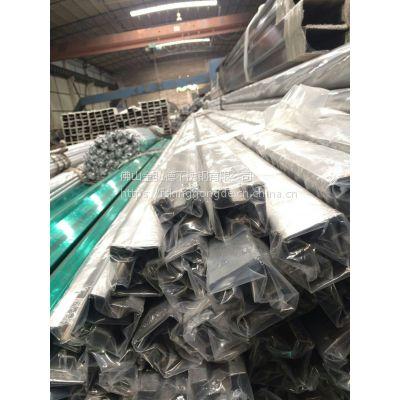 佛山工厂定制304L低碳不锈钢方槽方管、地铁工程不锈钢槽管