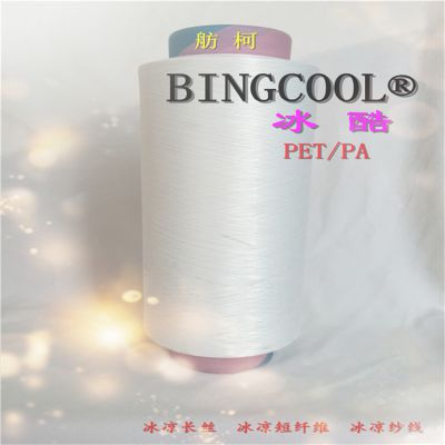BINGCOOL、锦纶冰凉纤维、冰凉丝、凉感丝、锦纶6-DTY 70D/48F、冰酷革命