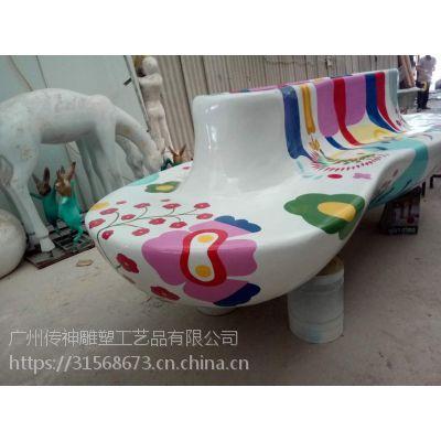 彩绘玻璃钢花盆凳子