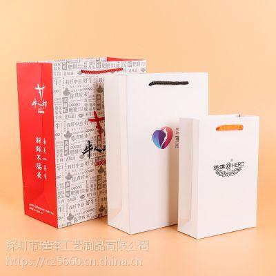 深圳厂家定制服装礼品包装手提袋、广告购物牛皮纸袋可印LOGO