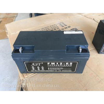 南京AST蓄电池UPS12V100AH蓄电池价格