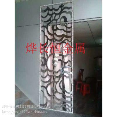 定制不锈钢屏风隔断玄关 中式玫瑰金屏风花格 生产各类不锈钢制品