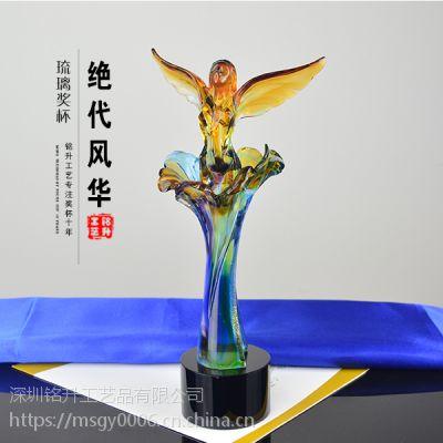 芭蕾舞蹈表演颁发奖品 琉璃奖杯 白衣天使专用奖杯 深圳
