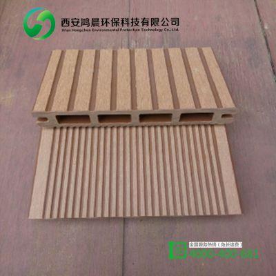 户外塑木空心地板140*25mm 露台花园庭院 工程PVC地板