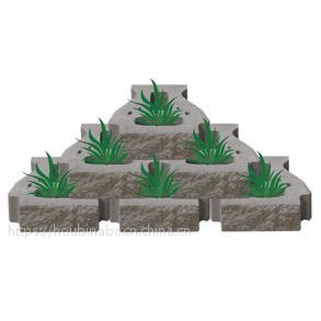 供应山东自嵌式景观挡土墙砌块,自嵌式互嵌式植生挡土墙砌块,生态连锁护坡砌块
