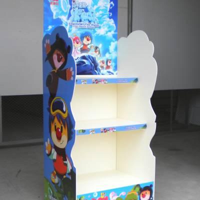 汕头瑞达展架厂专业生产供应上海澄海玩具文具PVC陈列架,超市PVC圆形展架,文具店PVC货架