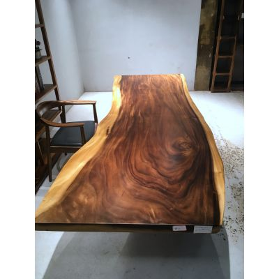 南美胡桃木260长91宽实木大板烘干薄板餐桌茶桌办公桌原木简约家具北欧风格原生态