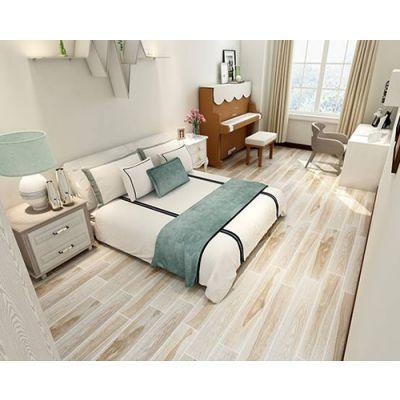 玉金山木纹砖,打造有格调的卧室